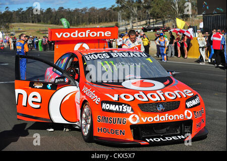 26th Aug 2012. Eastern Creek,Australia. Grid before the V8 Supercar Championship at the Sydney Motorsport Park,Australia - Stock Photo