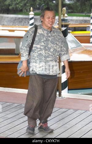 Venice, Italy. 3rd September, 2012. Director Kim Ki-duk arrives at Hotel Excelsior - Stock Photo