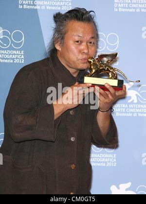 KIM KI-DUK FINAL AWARDS NIGHT. 69TH VENICE FILM FESTIVAL. VENICE  ITALY 08 September 2012 - Stock Photo