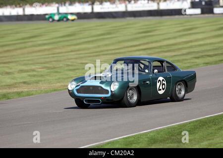 Goodwood Estate, Chichester, UK. 15th September 2012. 1960 Aston Martin DB4GT pictured during the RAC TT Celebration. - Stock Photo