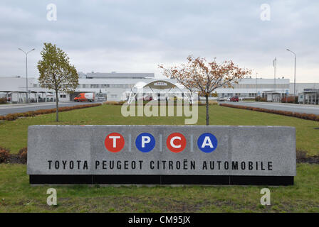 Toyota Peugeot Citroen Automobile (TPCA), producer of small cars, introduced its own inovations to reduce the environmental - Stock Photo