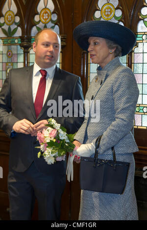 Her Royal Highness Princess Benedikte of Denmark  visited Northampton today Wednesday, 1 August 2012 to mark the - Stock Photo