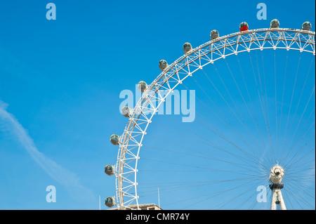 London Eye, Ferris Wheel,  London, U.K. - Stock Photo