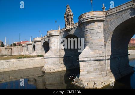 Puente de Toledo bridge Arganzuela district Madrid Spain Europe - Stock Photo