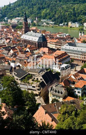 Heidelberg, Germany, on the River Neckar - Stock Photo