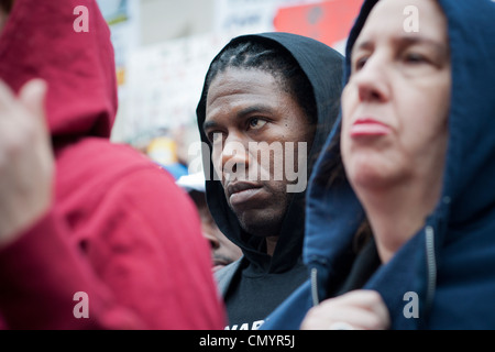 NYC Council members rally to condemn the shooting of Trayvon Martin in Florida - Stock Photo