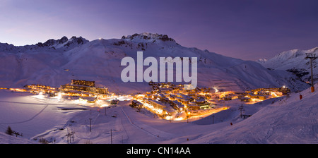 France, Savoie, Tignes, Tignes le Lac, Massif de la Vanoise, Tarentaise valley - Stock Photo