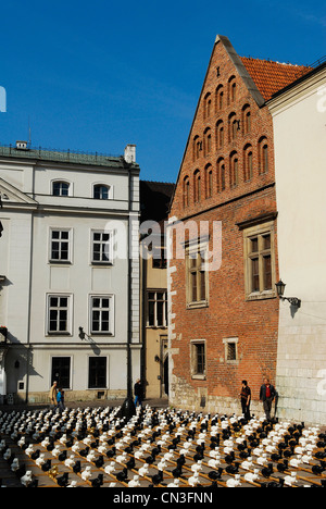 Poland, Lesser Poland region, Krakow, old town (Stare Miasto) listed as World Heritage by UNESCO, the square in - Stock Photo