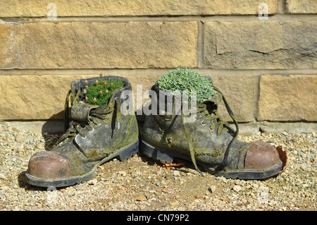 Old Work Boots - Stock Photo
