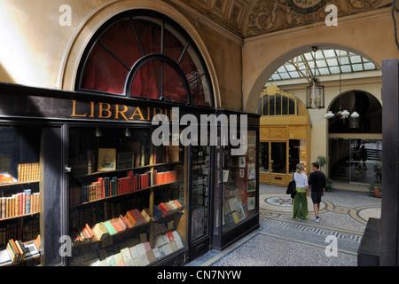 France, Paris, the Galerie Vivienne, La Librairie Ancienne, Francois Jousseaume's bookstore - Stock Photo