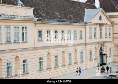 Austria, Vienna, MuseumsQuartier (MQ) located in the former stables of the Imperial Court, opened in 2001 as a space - Stock Photo
