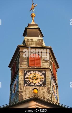 Slovenia, Ljubljana, capital town of Slovenia, the town hall - Stock Photo