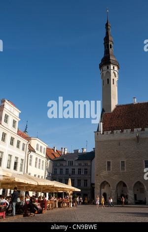 Estonia (Baltic States), Harju Region, Tallinn, European Capital of Culture 2011, historical centre listed as World - Stock Photo