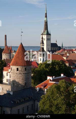 Estonia (Baltic States), Harju Region, Tallinn, European Capital of Culture 2011, historical center listed as World - Stock Photo