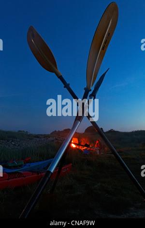 France, Cotes d'Armor, Brehat island, ar Morbic island - Stock Photo