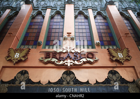 United States, California, Los Angeles, Downtown, the facade of the Belasco Theater built in the early 1900's - Stock Photo