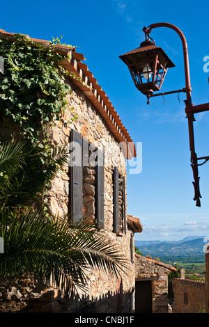 France, Pyrenees Orientales, Castelnou labelled Les Plus Beaux Villages de France (The Most Beautiful Villages of - Stock Photo