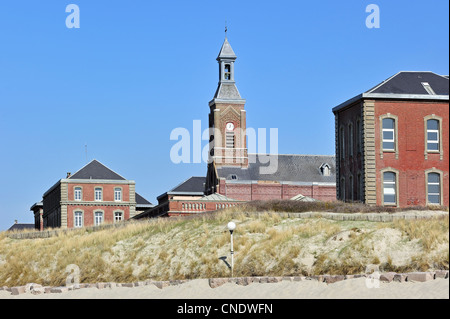 The sanatorium L'Hôpital maritime de Berck to treat tuberculosis at Berck-sur-Mer, Côte d'Opale / Opal Coast, France - Stock Photo