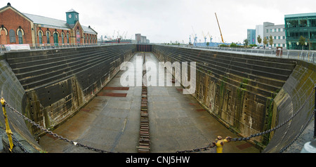 Titanic's Dock and Pump-House - Stock Photo