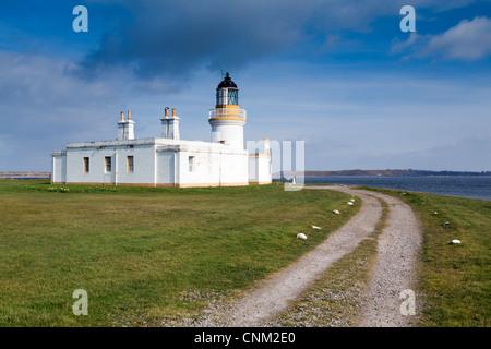 Chanonry Point; Moray Firth; Black Isle; Scotland; UK; lighthouse - Stock Photo