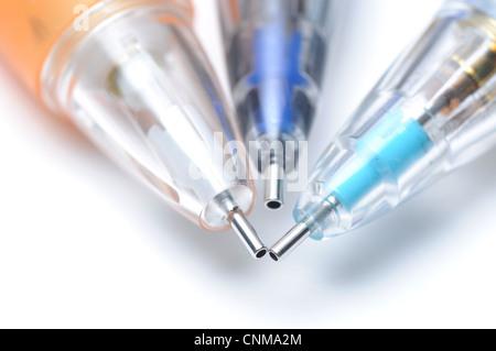 Macro colorful pens - Stock Photo