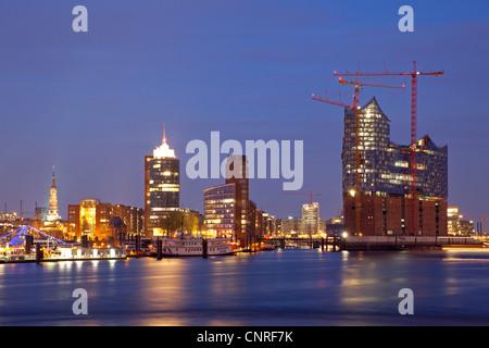 Elbe Philharmonic Hall and Harbour City, Hamburg, Germany - Stock Photo