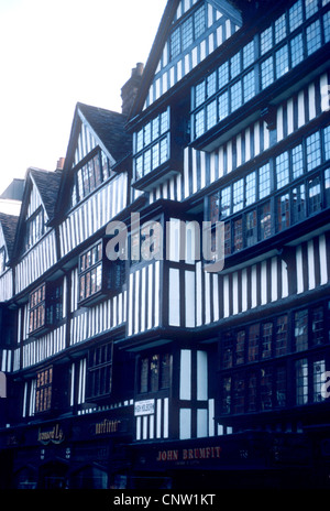 Staple Inn, High Holborn, London England UK Black and white timbered building buildings - Stock Photo