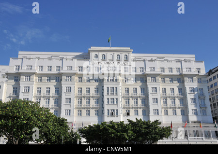 Copacabana Palace hotel Copacabana Rio de Janeiro Brazil - Stock Photo