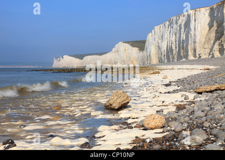 The Seven Sisters in East Sussex captured from near the Birling Gap - Stock Photo