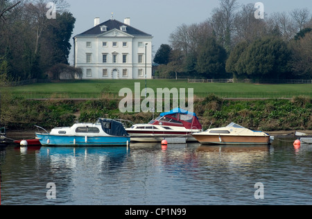 Marble Hill House (18th century historic house, English Heritage), along the River Thames, Richmond - Stock Photo