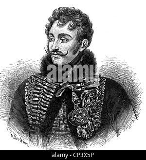 Lasalle, Antoine Charles Louis Collinet Comte de, 10.5.1775 - 6.7.1809, French general, portrait, wood engraving, - Stock Photo