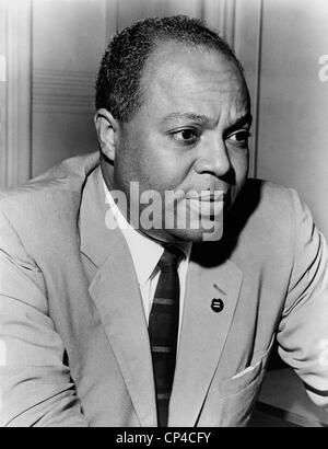 James Farmer (1920-1999), civil rights leader in 1963. Actor Denzel Whitaker played Farmer in the 2007 film THE - Stock Photo