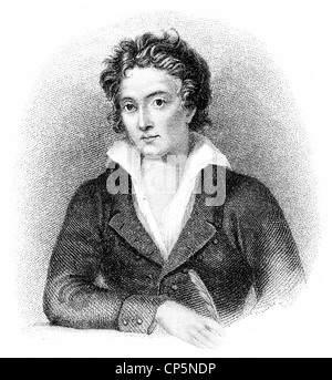 Percy Bysshe Shelley, 1792 - 1822, a British writer of Romanticism - Stock Photo