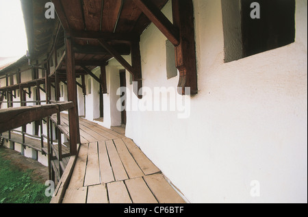 Romania Prejmer. fortified church, late Gothic style, thirteenth century, surrounded by wall 12 meters high, inside - Stock Photo