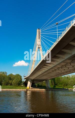 Swietokrzyski bridge in Warsaw, Poland - Stock Photo