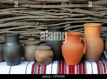 Ceramic jugs - Stock Photo