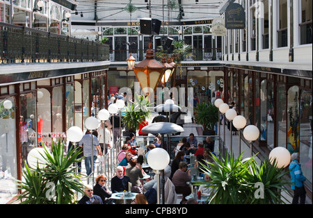 Shoppers in Wayfarers arcade shopping centre mall,  Southport merseyside Uk - Stock Photo