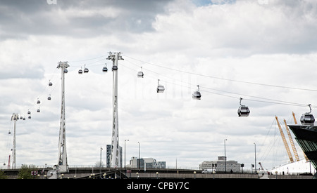 Emirates Air Line London cable car - Stock Photo
