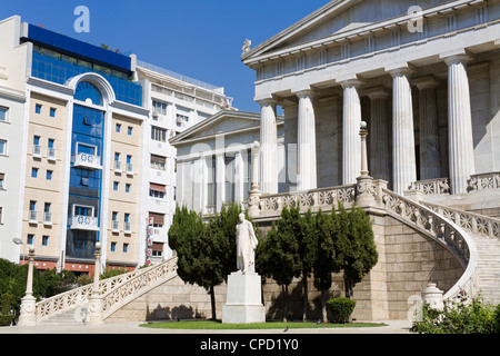 The National Library in Athens, Greece, Europe - Stock Photo