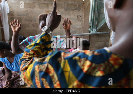 Evangelical church, Lome, Togo, West Africa, Africa - Stock Photo