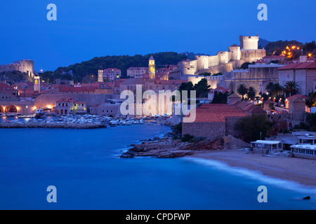 View of Old Town in the early morning, UNESCO World Heritage Site, Dubrovnik, Croatia, Europe - Stock Photo