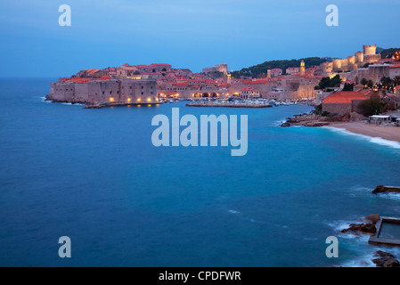 View of Old Town in the early morning, Dubrovnik, Croatia, Europe - Stock Photo