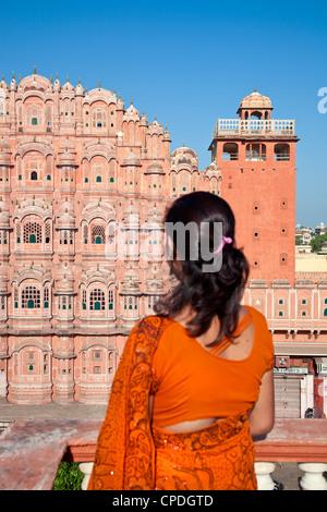 Hawa Mahal (Palace of the Winds), built in 1799, Jaipur, Rajasthan, India, Asia - Stock Photo