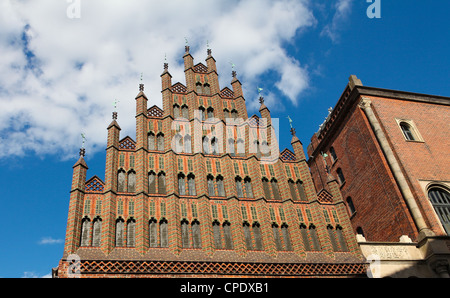 Altes Rathaus (old town hall) in the center of Hannover, Germany. - Stock Photo