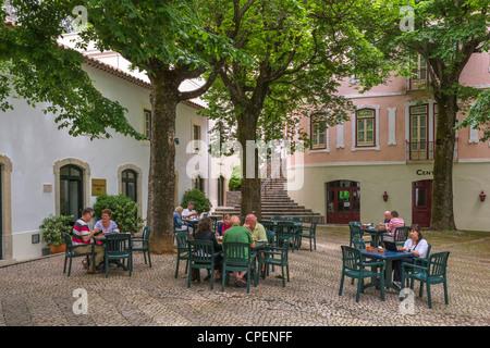Centre of the spa resort of Villa Termal das Caldas de Monchique, Serra Monchique, Algarve, Portugal - Stock Photo
