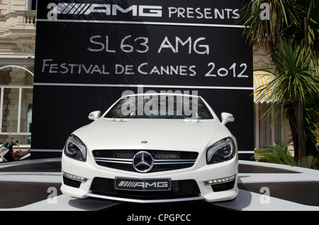 CANNES, FRANCE - MAY 17: Mercedes-Benz at the 65th Annual Cannes Film Festival on May 17, 2012 in Cannes, France. - Stock Photo