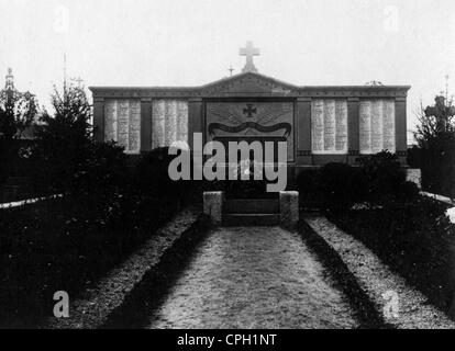 events, First World War / WWI, Western Front, 1915 - 1918, German military cemetery in Vouziers, France, 17.1.1916, - Stock Photo