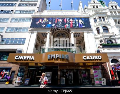 Empire cinema & casino in Leicester Square, London - Stock Photo