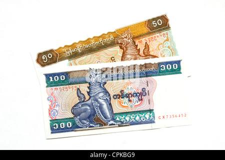 Currency of Myanmar (Burma) (kyat) - Stock Photo