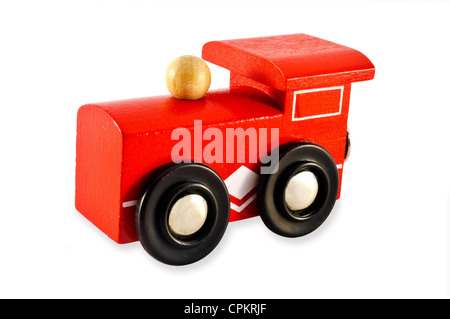 Train Engine isolated on a white background. - Stock Photo